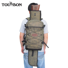 Tourbon Hunting Gun Bag Outdoor Canvas Rucksack with Large Capacity Detachable Shotgun Holster Men Backpack for