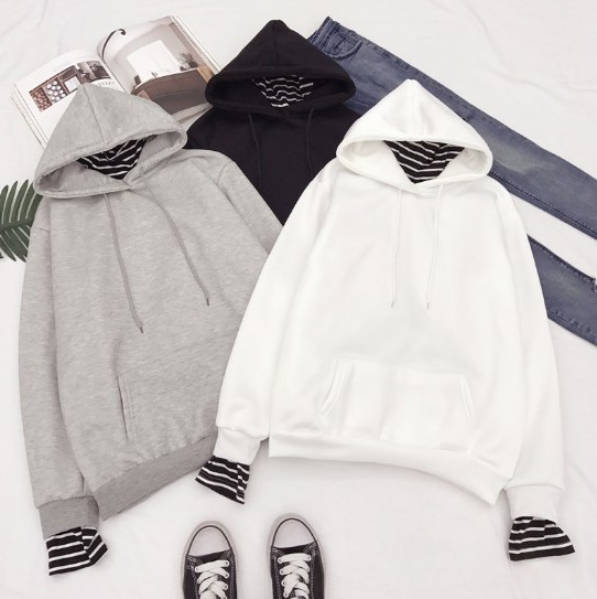 BTS (Bangtan Boys) Oversized Striped Hoodies