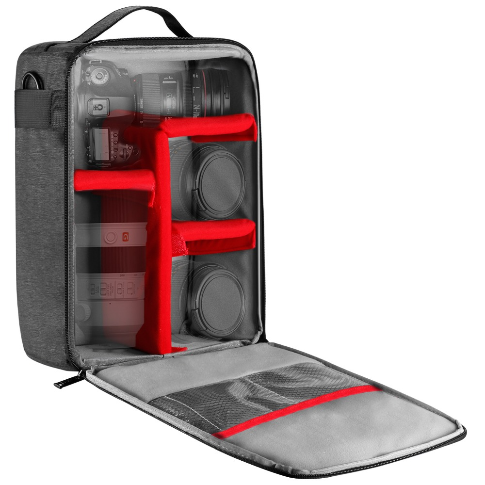 Waterproof DSLR SLR Photography Camera Carry Bag Lens Case For Canon Nikon Sony