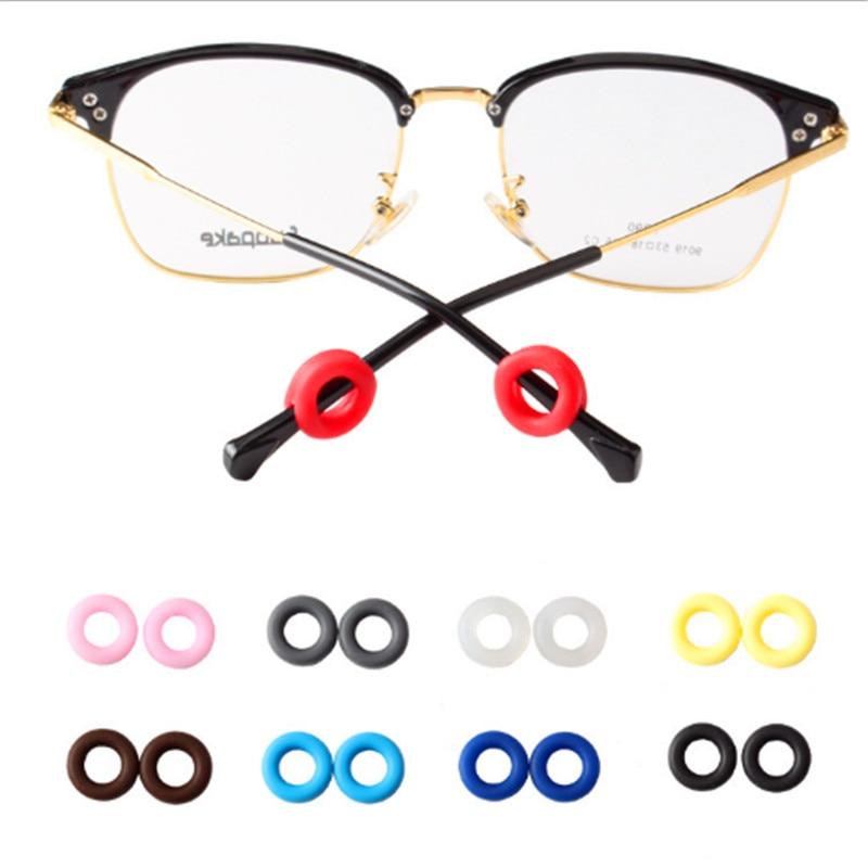 HEALLILY Gafas de Silicona Manga de la Pierna Gafas Antideslizantes Suaves Recubrimiento de la Sien Tapas del Extremo Extremos del o/ído Pedazos Piezas del o/ído