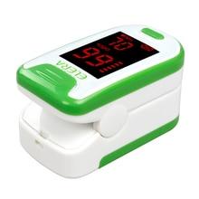 2017 New!! Pulse Oximeter With Carrying Case Oximetro de pulso de dedo LED Display Saturometro Pulsioximetro 4 Color Health Care