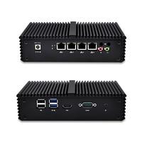 Qotom Mini PC Barebone 4 Lan Micro PC AES NI Dual Core I5 I3 PFsense Firewall