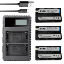 Dvisi 3 шт. NP-F550 NP-F570 f570 + ЖК-дисплей USB двойной Зарядное устройство для Sony CCD-SC5 ccd-sc100 ccd-tr910 dcr-trv315 dcr-vx2000 mvc-fd95