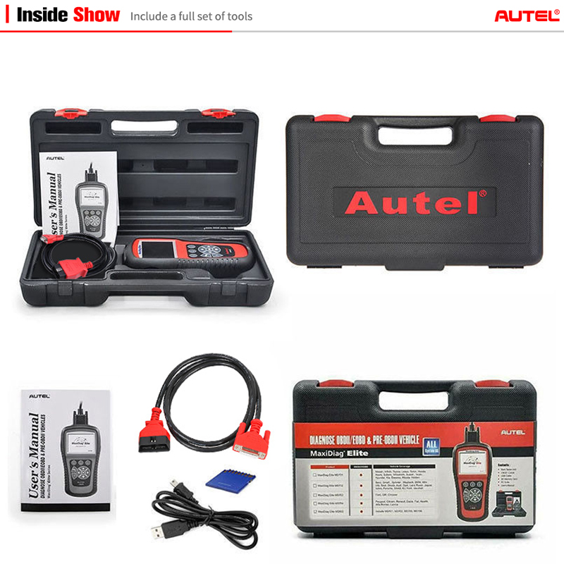 Image 5 - AUTEL MaxiDiag Elite MD802 All system car detector OBDII code reader scanner for EPB Oil reset OBD2 diagnostic tool PK MD805