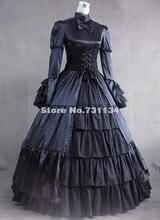 Vintage Black Long Sleeve Steampunk Gothic Corset