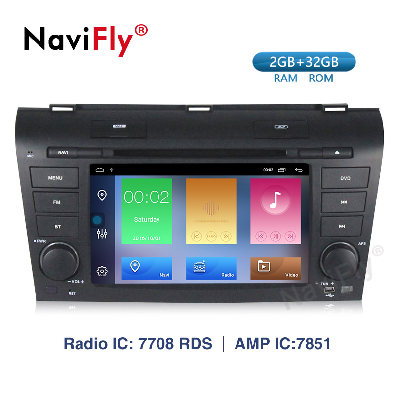 2 Din Android 9.1 Car <font><b>multimedia</b></font> dvd player GPS <font><b>For</b></font> <font><b>Mazda</b></font> <font><b>3</b></font> mazda3 2004 2005 2006 <font><b>2007</b></font> 2008 2009 car radio stereo canbus image
