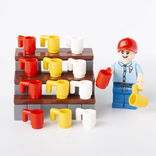 City Accessories Mug Building Blocks Food Utensil Beer Cup Figure Parts Bricks Assemble Toy  Plate Friends
