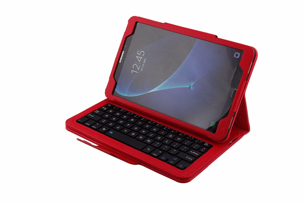 Detach Wireless Bluetooth Keyboard Tablet Case Cover for Samsung Galaxy Tab A A6 10.1 2016 T580 T585 With Screen Protector Film