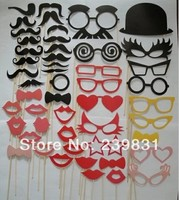 Set Of 50 Mustache On A Stick Wedding Party Photo Booth Props Photobooth Masks Bridesmaid Gifts