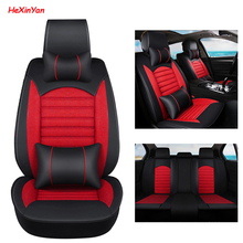 HeXinYan Universal Car Seat Covers for Nissan all model qashqai x-trail tiida Note March Teana Murano almera primera navara juke car rear bumper protective decorative strips sticker accessories car styling for nissan qashqai tiida almera juke primera note