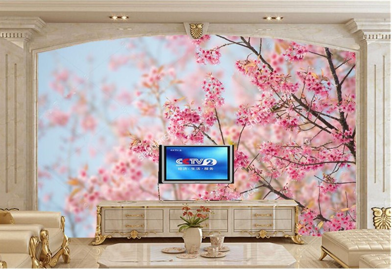 Custom large murals,Beautiful cherry blossoms wallpaper for walls 3d ...