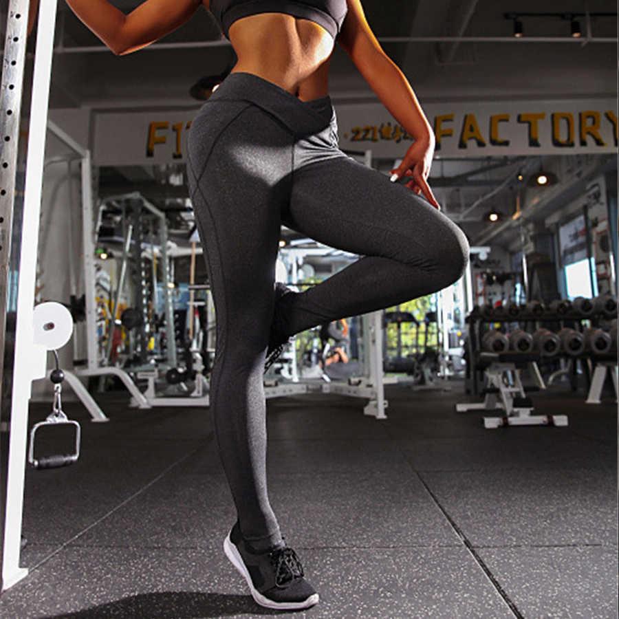 ff382037e25d7 ... YICN Yoga Pants Sport Leggings Women Sport Fitness high waist V Shape  Legging Push Up Leggings ...