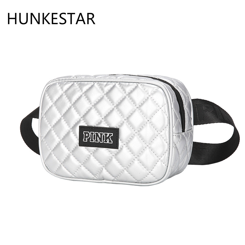 New PINK Fanny Pack Radium Bright Heuptas Waist Bag Women Gym Bags Multifunction Running Bag  Waterproof Sport Fitness Bag