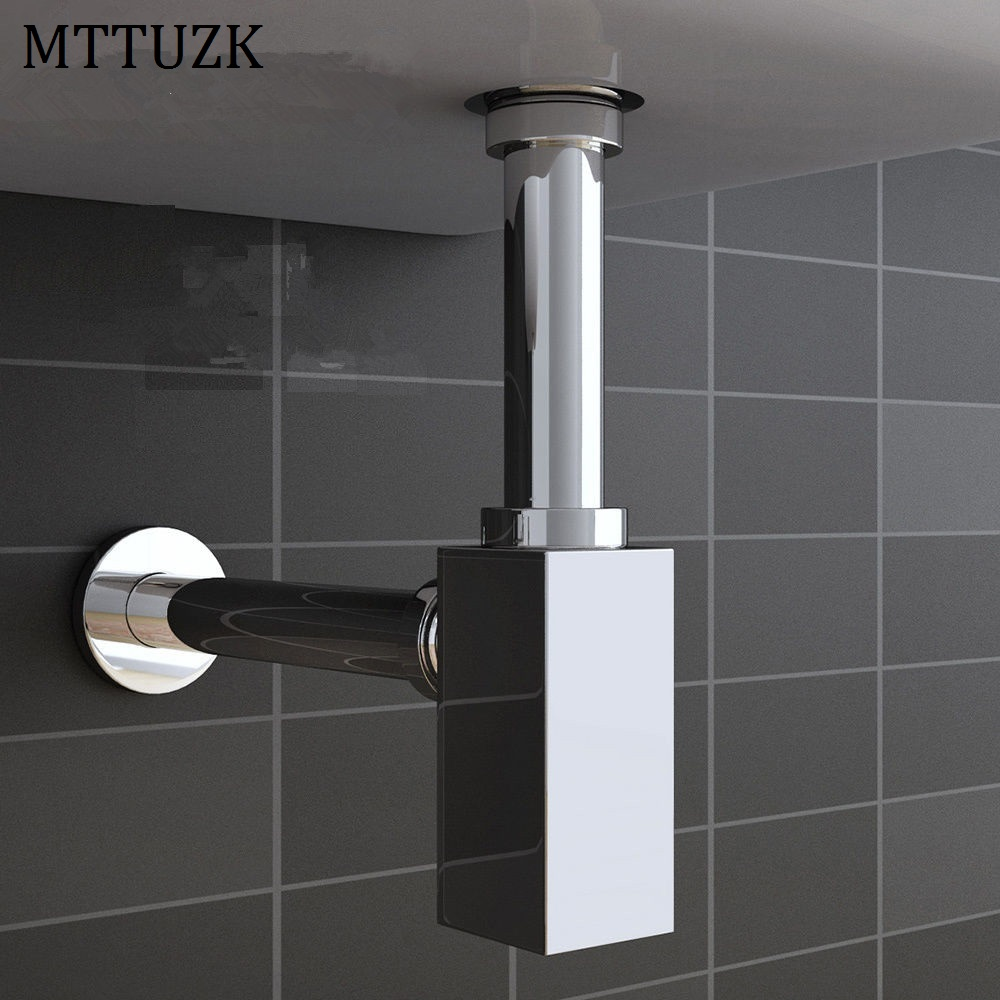 MTTUZK High Quality Brass Chrome Plated Wall Mounted Drain Deodorant Square Wall Drain Wash Basin Under Water Pipes диски helo he844 chrome plated r20