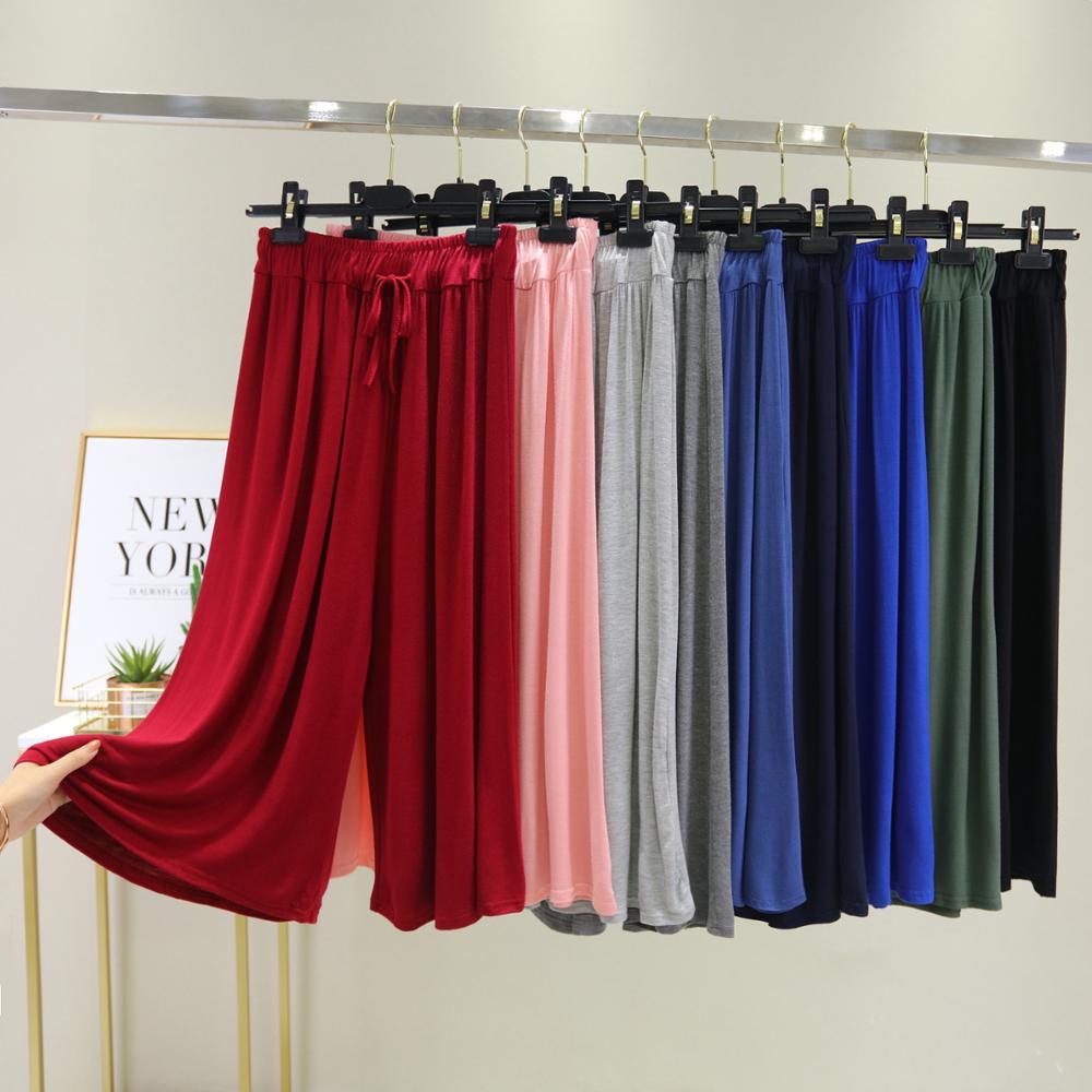 100% Cotton Women Casual Loose Wide Leg Pants Lady Elegant Fashion Preppy Trousers Female Pure Color Females New Palazzo Pants