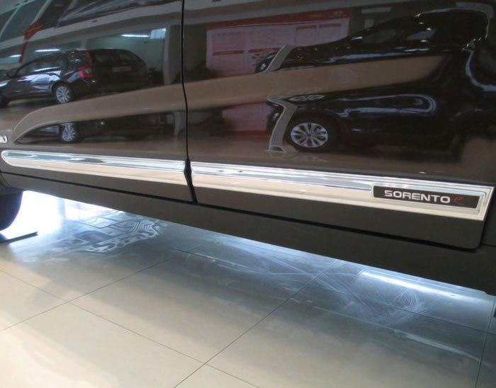 4PCS/set FOR KIA Sorento body side door molding trim for 2010-2014