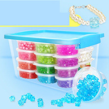 Children's handmade beaded toy diy girl puzzle amblyopia training bracelet necklace wearing beads making material package