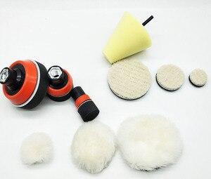 Image 2 - 1 de alta calidad, almohadilla de espuma de pulido fino de 2,3 pulgadas (3 almohadillas de espuma, 3 almohadillas de respaldo, 3 almohadillas de lana japonesas, 3 bolas de lana, 1 cono,