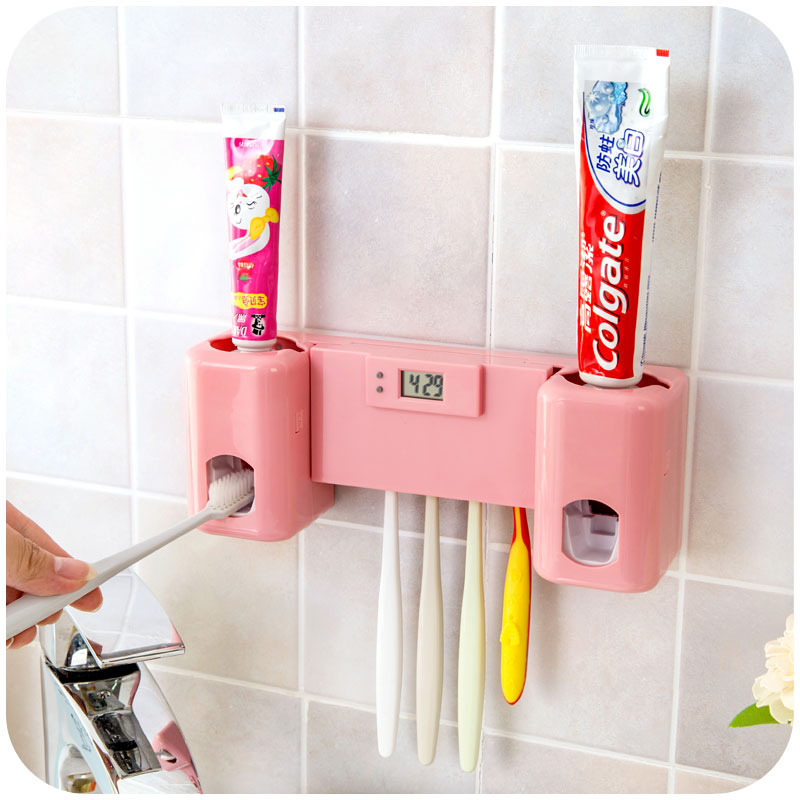 Bathroom accessories products clock automatic toothpaste for Gen y bathroom accessories