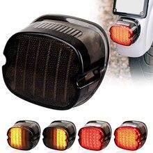 LED الضوء الخلفي مع الكبح بدوره إشارة 1 قطعة استبدال الذيل ضوء ل هارلي دينا الطريق الملك إلكترا الإنزلاق شارع بوب بجولة