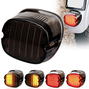 Image 1 - LED Taillight with Braking Turn Signal 1 pcs Replacement Tail Light for Harley Dyna Road King Electra Glide Street Bob Touring