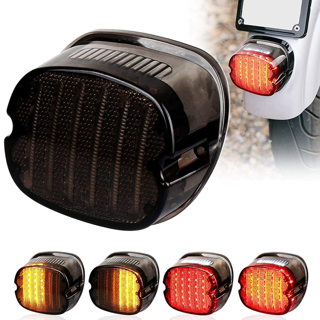 LED Taillight with Braking Turn Signal 1 pcs Replacement Tail Light for Harley Dyna Road King Electra Glide Street Bob Touring