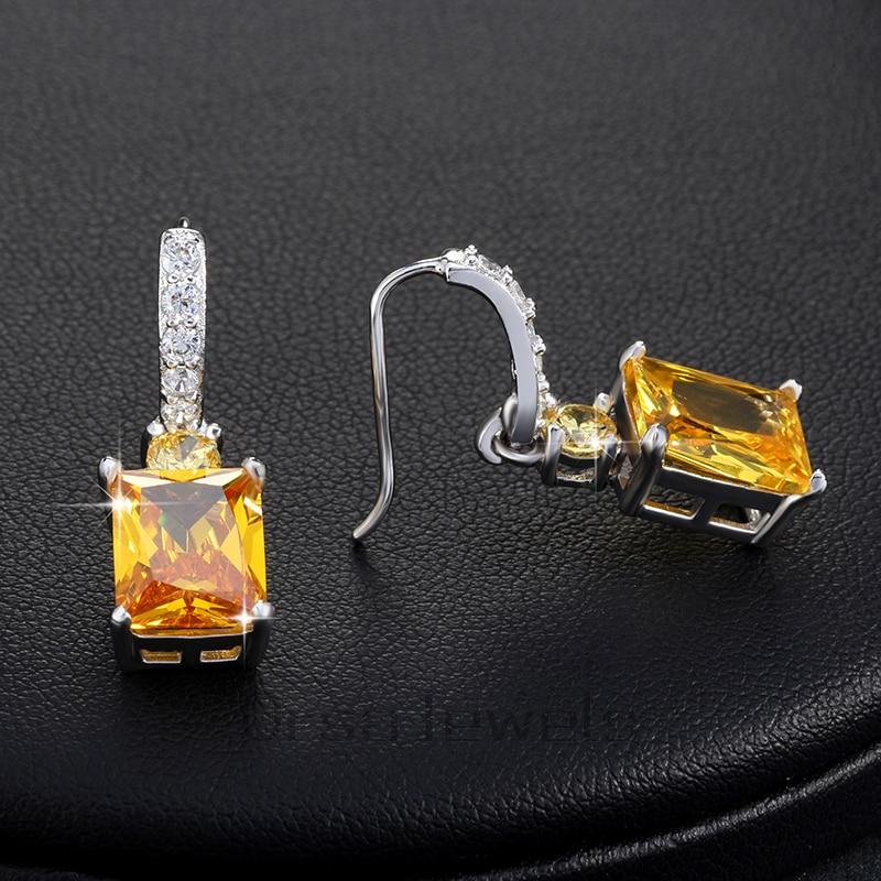 ORSA JEWELS Store gule sten Zirkon øreringe smukke dingle øreringe - Mode smykker - Foto 3
