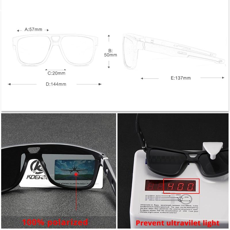 KDEAM Brand Men 39 s Fashion Polarized Sunglasses Men For Driving UV Protection Eyewear Designer Outdoor Travel Sun Glasses Square in Men 39 s Sunglasses from Apparel Accessories
