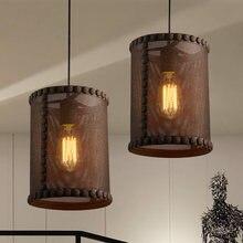 Neto de Hierro Estilo Loft Retro Edison Lámparas Colgantes Iluminación Industrial de La Vendimia RH Lámpara Colgante De Comedor Interior