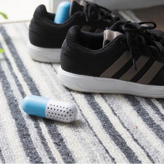 1 Pair Shoe Deodorant Cute Pill Shape Shoe Dryer Shoe Deodorizer  Antimicrobial Carbon Closet Deodorant Drawer