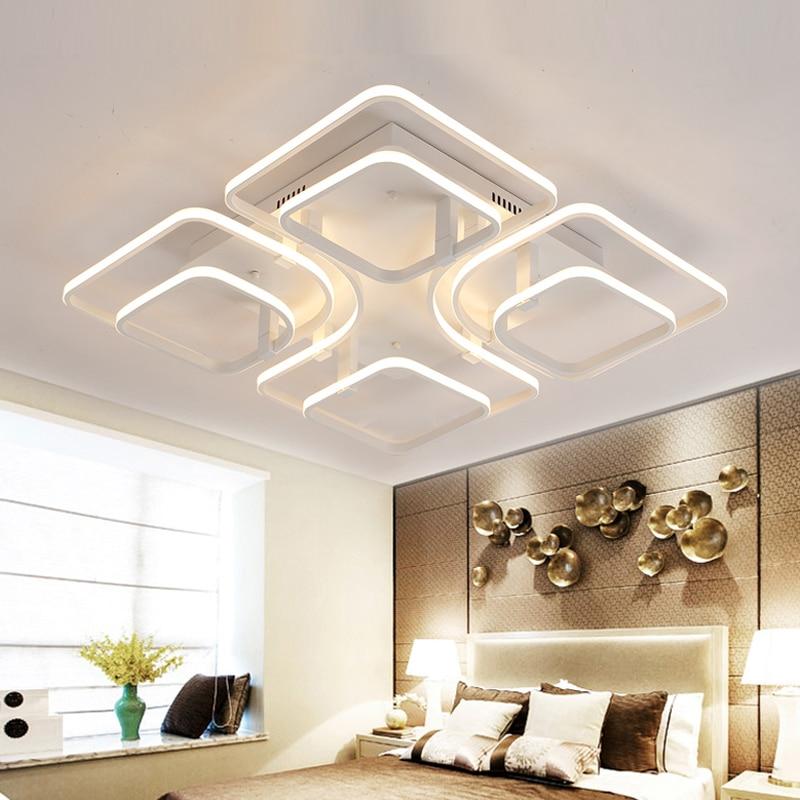 akryl led fyrkantiga taklampor moderna taklampor för vardagsrum ljus - Inomhusbelysning - Foto 3