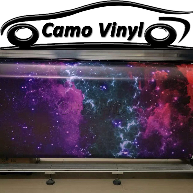 Hot Sale Motorcycle Car Body Wraps Cover Starry Galaxy Vinyl Wrap Sticker Star Film