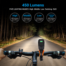 USB Rechargeable Bike Bicycle Lights Bright LED HeadLights Headlamp IP65 Waterproof Front Light with FREE Rear Tail