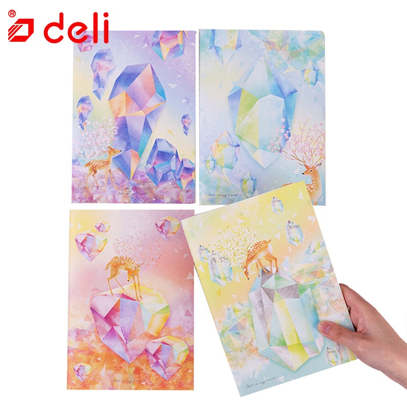 Deli A5 Notebook Cute Kawaii Student Stationery 40 Sheets Notebook Planner 4PCS Diary Journal Agenda Filofax Notepad Gift Set