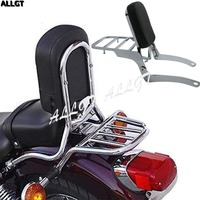 ALLGT 13 Sissy Bar Backrest Fit For Yamaha Virago XV 250 XV 125 1989 2011 1999 2000 2001 2002 2003 2004 2005 2006 2007 2008
