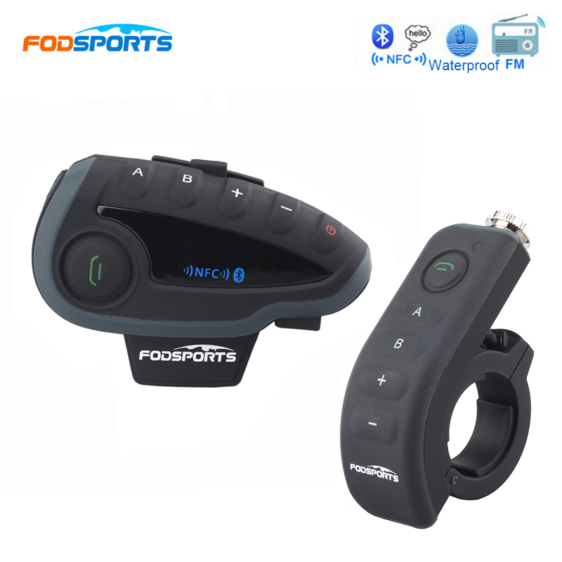 Fodsports V8 Motorcycle Helmet Bluetooth Intercom Full-Duplex 5 Riders Talking Interphone Headsets with Controller NFC Max 1200M 2pcs e6 wireless full duplex helmet intercom bt interphone 1200m motorcycle bluetooth helmets headset walkie talkie for 6 riders