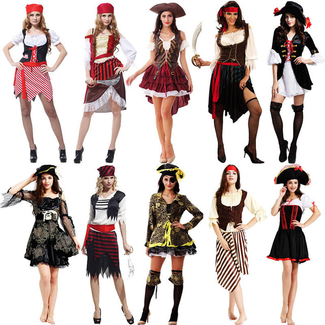 2018 Adults Pirates Costume Pirate Captain Costume For Men Women Halloween Dance Party Cosplay Costumes Purim  sc 1 st  AliExpress.com & 2018 Adults Pirates Costume Pirate Captain Costume For Men Women ...