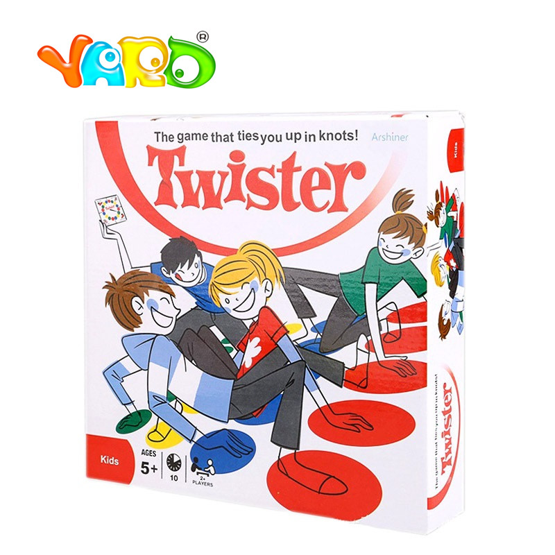 YARD Outdoor Sport Toys Twister Game moves games for children kids game move Family Friend Play Play Mat Twisting body 28*6*28cm