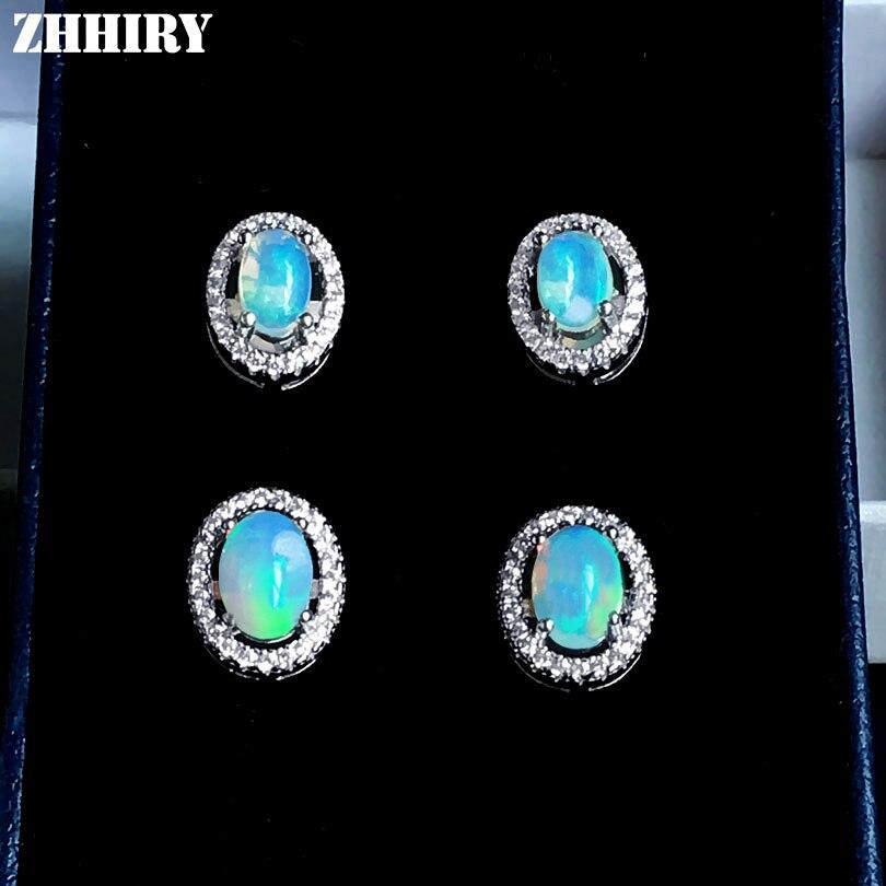 ZHHIRY Σκουλαρίκια Φυσικών Πυρκαγιών Opal - Κοσμήματα - Φωτογραφία 3