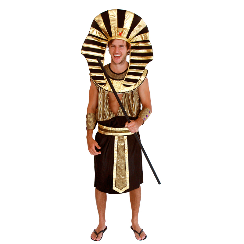 2016 King Tut Egyptian Pharaoh Adult Carnival Halloween Costumes For