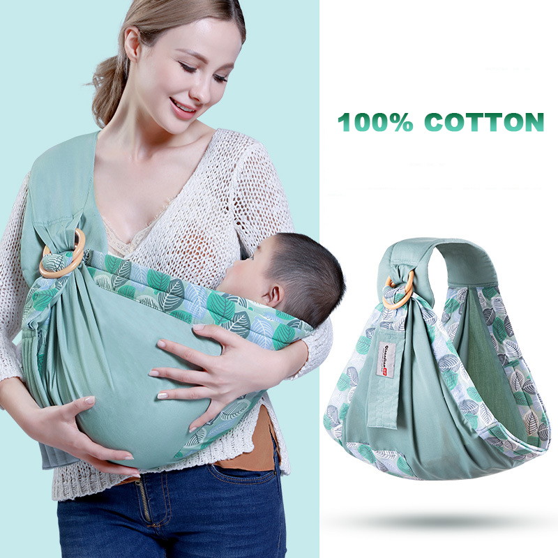 Newborn Ergonomic Kangaroo Sling Ring Baby Cloth Bag Kids Carrier Infant Wrap Front Facing Suckle Nursing Feeding 100% Cotton