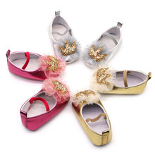 New Summer Autumn Children Shoes Girls Cute sequins Bow Princess leather shoes Girls Casual Shoes dance shoes(China)