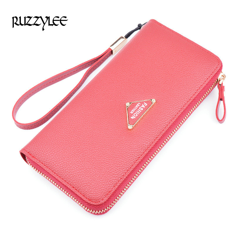 New Brand Ladies Leather Purse Woman Wallet Long Zipper Luxury Women Purses Female Wallets Clutch Card Holder Carteira Feminina lykanefu fashion cross designer women wallets long women clutch purses ladies wallet purse female carteira feminina day clutches