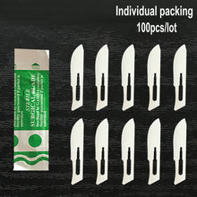 100pcs/lot 10/11/12/15/18/20/21/22/23/24# Individual packing Carbon Steel Sterile Surgical Blades  Free shipping