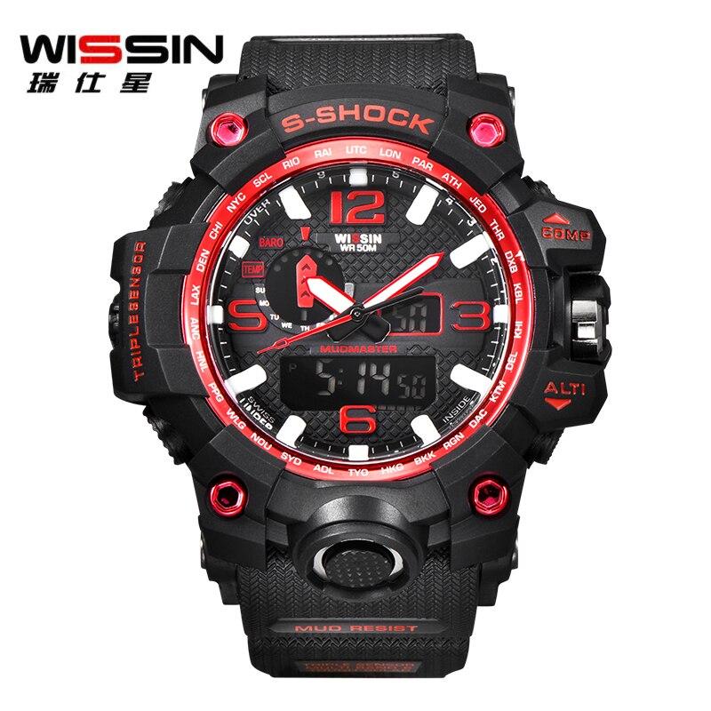 066aa7e1109 Homens Relógios de Luxo De marca WISSIN S Choque Relógio Do Esporte ...