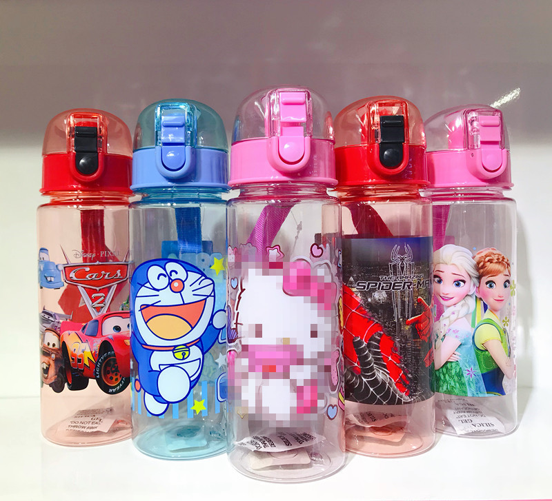 Cups Bottle Drinking-Cup Spiderman Eco-Friendly 550ml Vacuum Pp-Plastic Girl Kids Cartoon