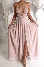 maxi dress sexy club gown party elegant beach long Floor Length pink tunic sundress off shoulder gatsby backless 2018 summer