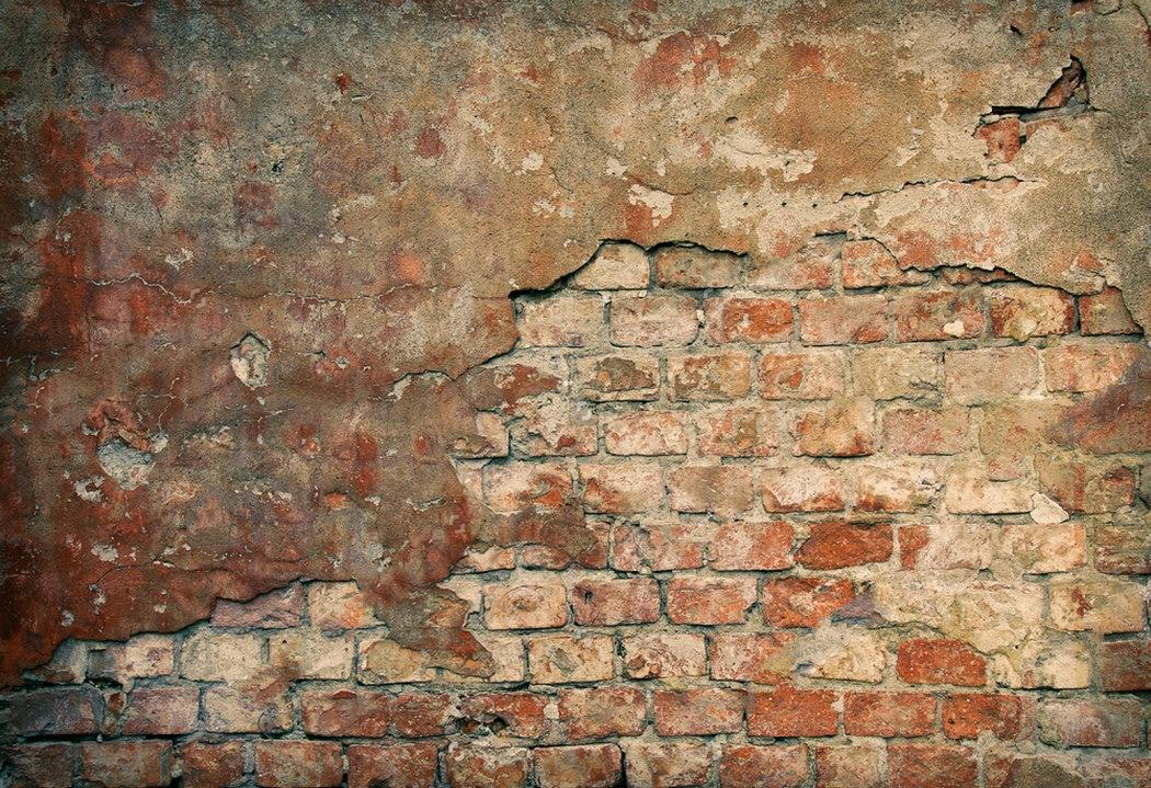 Rustic Old Damaged Brick Wall Backdrop Vinyl Cloth High
