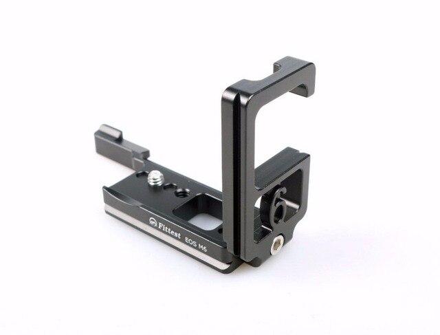 FITTEST FLCM6 Pro Vertikale Custom L Halterung Vertikale Schießen Quick Release L Platte Halter für Canon EOS M6 Kamera Tripode platte
