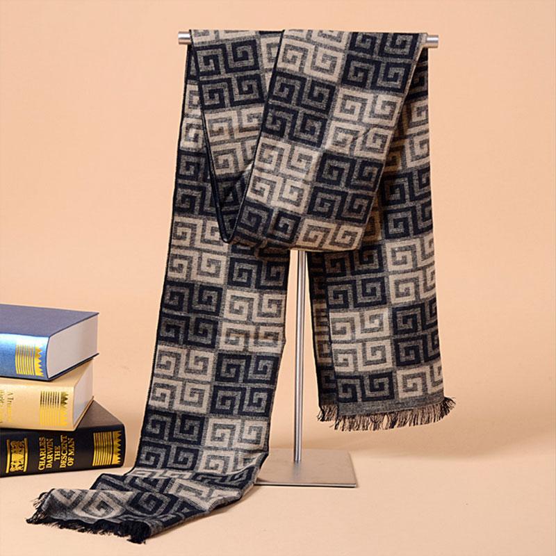 75a935ac09ef Click here to Buy Now!! Mode motif Hommes Écharpe de haute qualité Faux Cachemire  foulard écharpes d